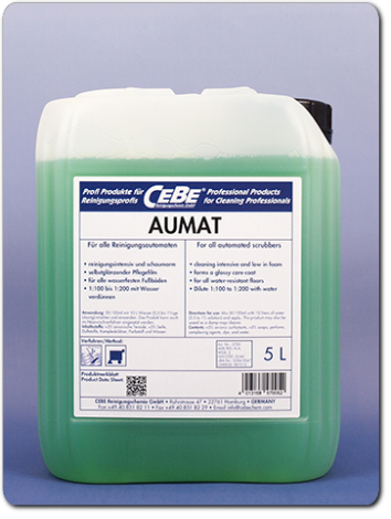 AUMAT - Concentrate for automated scrubbers from CEBE Reinigungschemie GmbH