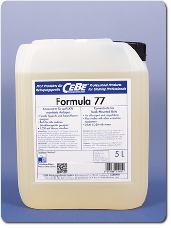 Formula 77 - highly concentrated extraction cleaner from CEBE Reinigungschemie GmbH