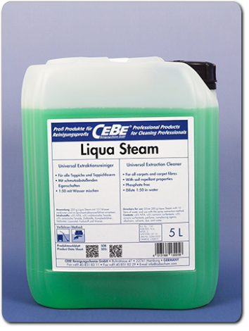 Liqua Steam - concentrated extraction cleaner from CEBE Reinigungschemie GmbH