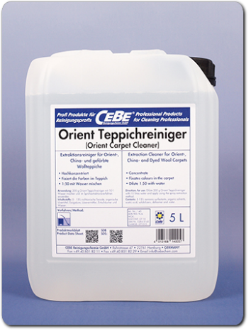 Orient Carpet Cleaner - concentrated extraction cleaner for oriental rugs fromr CEBE Reinigungschemie GmbH