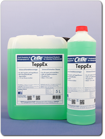 TeppEx - extraction cleaner for carpets from CEBE Reinigungschemie GmbH